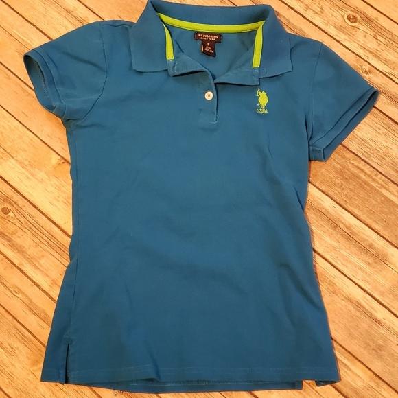 Multicolor Us Polo ASSN youth boy/'s polo shirt long sleeve size 10//12 M.